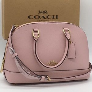 COACH Crossgrain Leather Mini Sierra Satchel Bloss